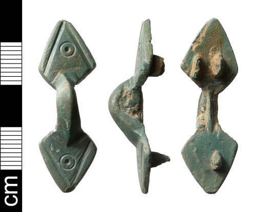 NMS-73A5D2: Early Medieval Ansate Brooch