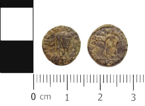 ASHM-3768BD: Roman coin: nummus of Arcadius