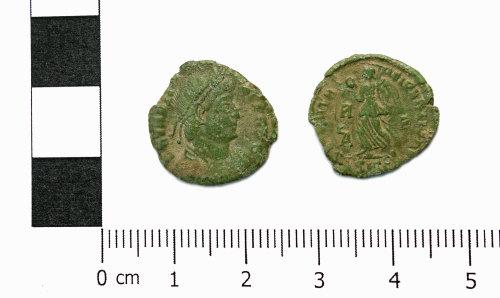 ASHM-93DA56: Roman coin; nummus of Valentinian