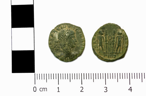 ASHM-941DE9: Roman coin; nummus of Constantine II