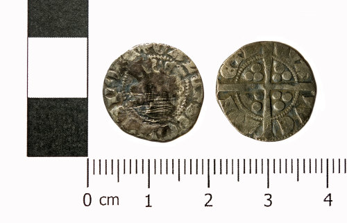 ASHM-DE4178: Sterling imitation penny of Gaucher of Chatillon