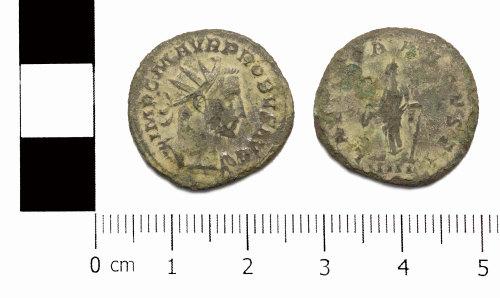ASHM-E74905: Roman coin; radiate of Probus