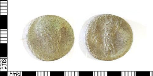 LEIC-0437DB: Roman copper alloy Flavian sestertius