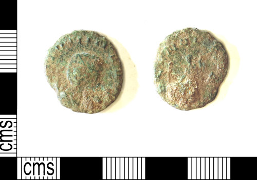 LEIC-29DE04: Roman copper alloy radiate of Salonina
