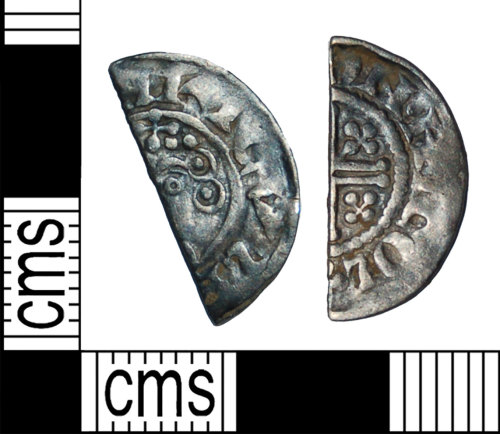 BH-1A8306: Medieval coin: shortcross halfpenny of Henry III