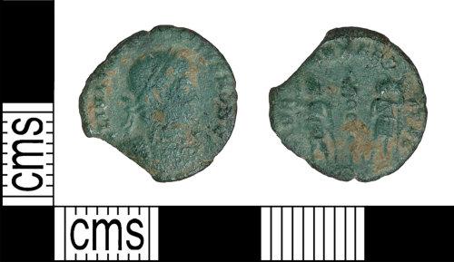 BH-250FDD: Roman coin: nummus of Constans
