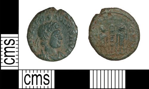 BH-256E29: Roman coin: nummus of Constans