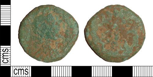 BH-2B7758: Roman coin: as or dupondius of an uncertain emperor