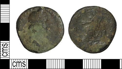 BH-2D7D7C: Roman coin: as or dupondius of Sabina