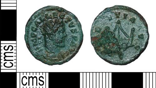 BH-33D509: Roman coin: radiate of Allectus