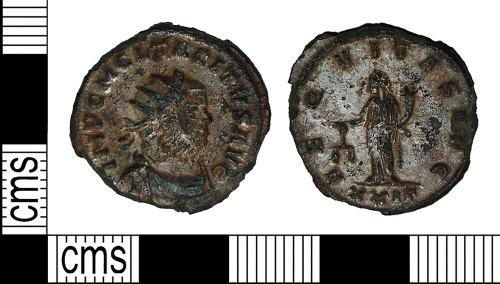 BH-35D918: Roman coin: radiate (antoninianus) of Tacitus
