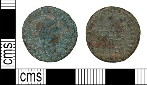 BH-3DAC5B: Roman coin: nummus of the House of Constantine