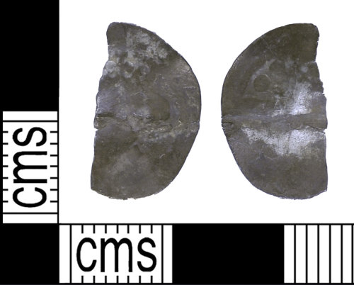 BH-42E192: Medieval coin: long cross penny of Edward III (possibly)