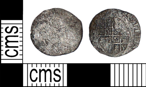 BH-486DD2: Post medieval coin: penny of Charles I