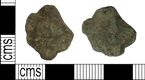 BH-4937F1: Roman coin: radiate of Carausius (possibly)