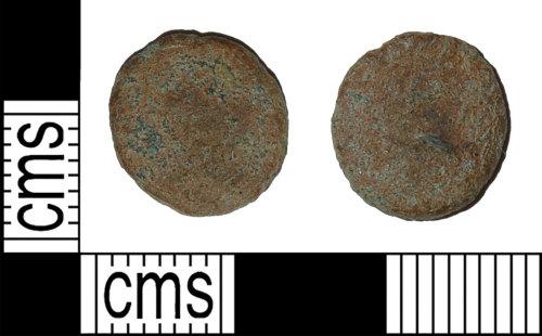 BH-4F2A07: Roman coin: radiate or nummus of an uncertain emperor
