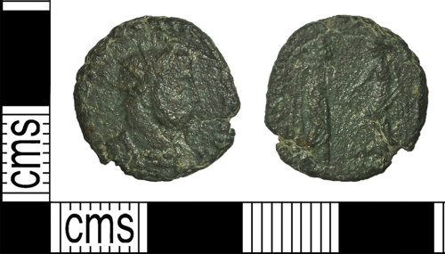BH-6349FE: Roman coin: radiate of Carausius (probably)