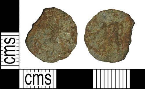 BH-659D7C: Roman coin: nummus of an uncertain fourth century emperor