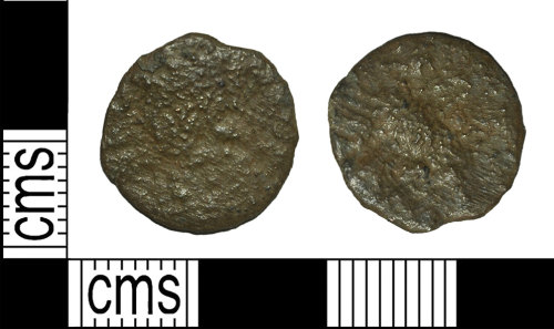 BH-65C62A: Roman coin: contemporary copy of a nummus of the House of Constantine
