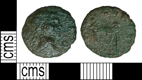BH-67EFE2: Roman coin: barbarous radiate imitating a coin of a Claudius II