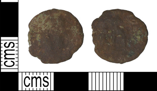 BH-761B31: Roman coin: contemporary copy of a radiate of an uncertain ruler