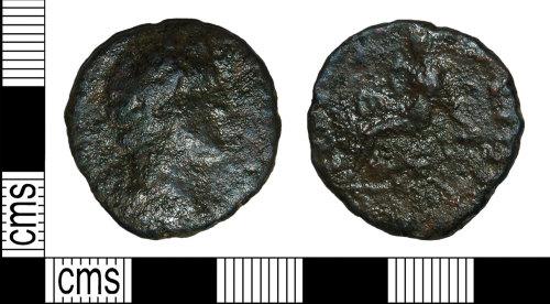 BH-80356F: Roman coin: dupondius of Antoninus Pius