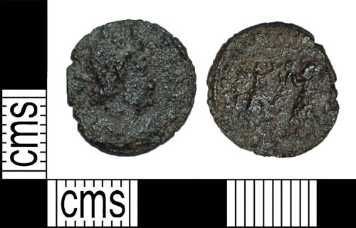 BH-955F95: Roman coin: nummus of the House of Constantine