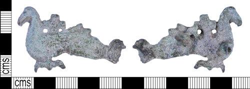 BH-A3BA59: Late Early Medieval cross-on-bird brooch