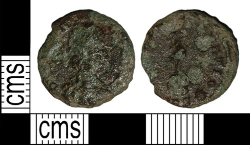 BH-ABB08E: Roman coin: nummus of Constans (probably)