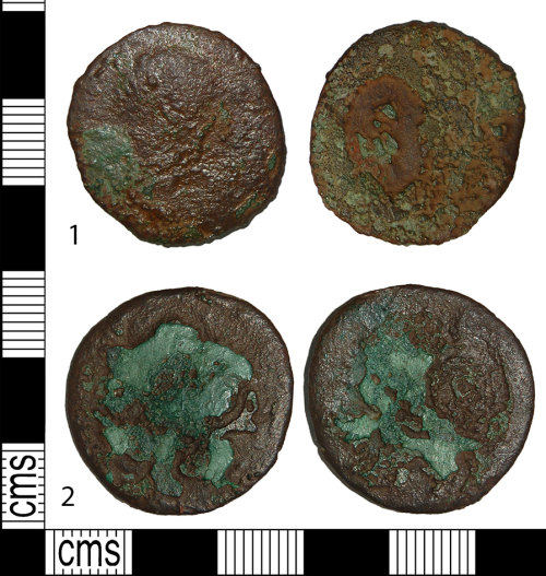 BH-CFCA82: Roman coins: aes or dupondi of uncertain emperors