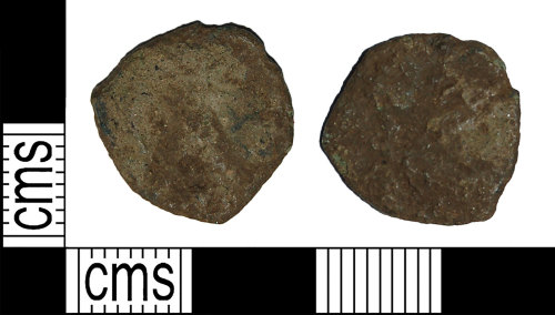 BH-D7F127: Roman coin: barbarous radiate dating to the period AD 275 to 285