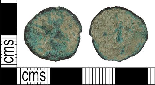 BH-DB5372: Roman coin: radiate of uncertain emperor