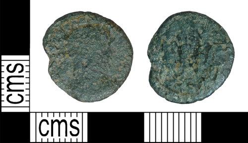 BH-DCDFDA: Roman coin: nummus, possibly a contemporary copy, ofh