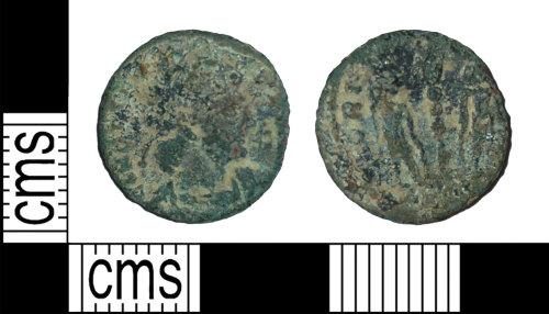 BH-DD5B6D: Roman coin: nummus of the House of Constantine