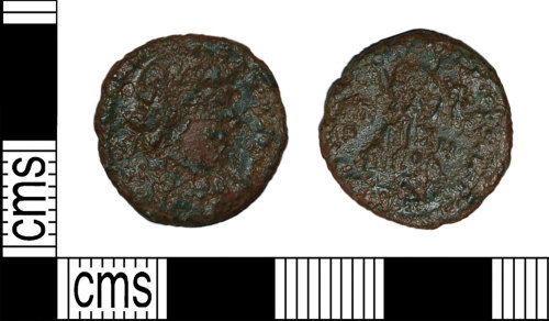 BH-F69F4C: Roman coin: nummus of the House of Valentinian