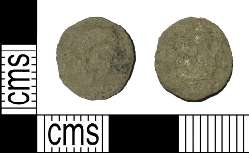 BH-FDCAFD: Roman coin: nummus of the House of Valentinian (possibly)