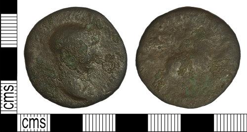 BH-045A03: Roman coin: sestertius of Trajan