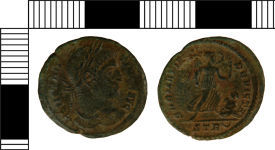 A resized image of Nummus of Constantine I from Swinhope