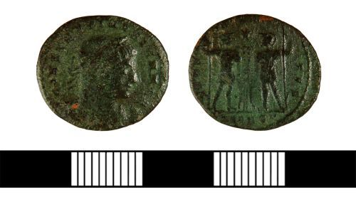 NLM-AA2101: Nummus of Constantius II from Scawby