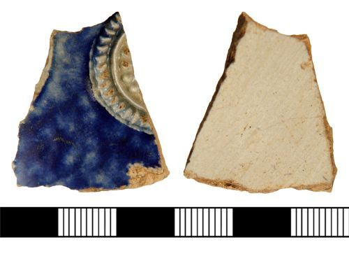 A resized image of Sherd of German Stoneware vessel from High Risby