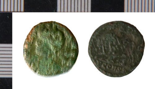 NLM-ED11A5: Nummus of House of Constantine from Winteringham