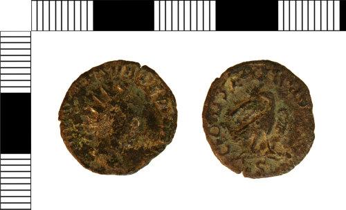 NLM-7F2F93: Roman Coin: Commemorative Radiate of Valerian II