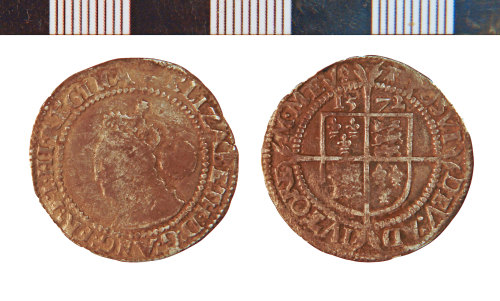 NLM-1C3723: Post-Medieval Coin: Sixpence of Elizabeth I