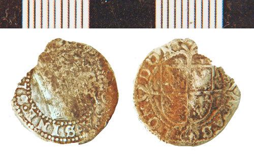 NLM-449BA0: Post-Medieval Coin: Three Halfpence of Elizabeth I