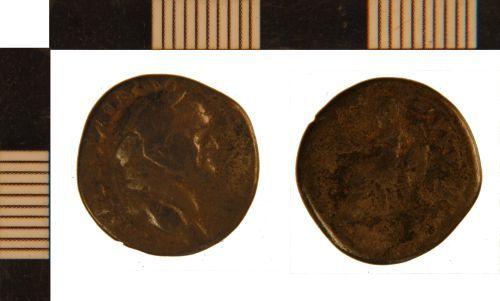 NLM-A0A112: Roman Coin: Denarius of Vespasian