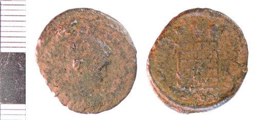 NLM-384C96: Roman Coin: Nummus of House of Constantine