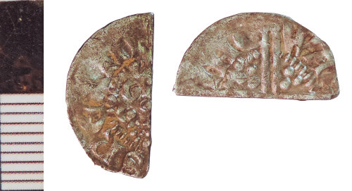 NLM-53E042: Medieval Coin: Halfpenny of Henry III