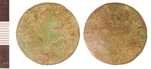 NLM-9DD5EB: Post-Medieval Coin: Halfpenny of George I