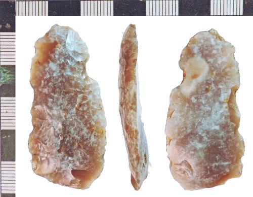 NLM-8BF81C: Bronze Age Plano Convex Knife