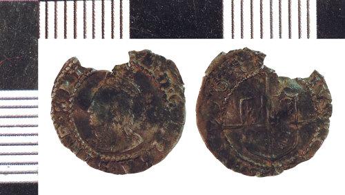 NLM-F54EC8: Post-Medieval Coin: Penny of Elizabeth I
